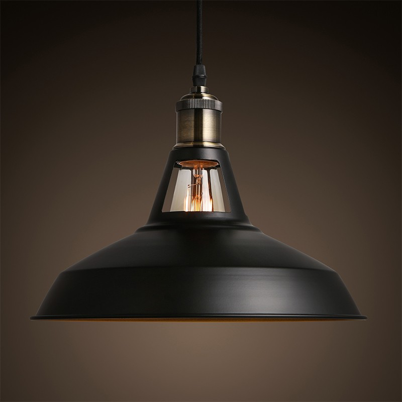 Free shipping 2016  Industrial retro style Art Pendant light black white Edison light bulb American village lamps Hanging Lamps<br>