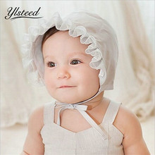 Newborn Photography Props Cotton Sumhat Lace Trim Baby Summer Hat Kids Sun Caps Baby Boys Girls Snapback Touca Infantil Gorro