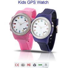 Colorful Kids GPS Phone Watch TP061 compatible with IOS and Android smart mobile phones Pink/Blue/Green/Yellow for choice(China)