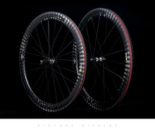 12K Twill wheel carbono road bike wheels 25mm width 50mm depth Tubular Clincher carbon bicycle wheels Wheelset(China)