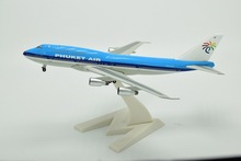 18CM 1:400 PHUKET 747-300 HS-VAV Metal Air Aeroflot Airlines Airplane Model Airways Plane Model w Stand Aircarft toys 1PC