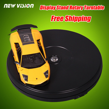 25cm 10in Diameter Black Heavy Duty 3D Rotating Display Stand Rotary Turntable with LED Light (10KG Centric Loading) 100~120V