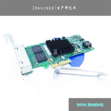 NEW Chipset WITH LOGO I350-T4 PCI-Express PCI-E Quad Four RJ45 Gigabit Ports Server Adapter NIC Network Card For Servers.(China)