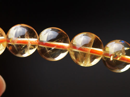 Natural Yellow Citrine Quartz Crystal Round Beads 11mm Bracelets Gemstone Stone Stretch Wealthy Woman ManAAAAAA (3)