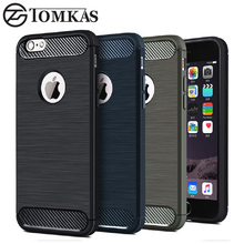 TOMKAS 5 5S SE Luxury Silicone Case For iPhone 5 5S SE Case Soft Phone Back Cover Carbon Fiber Business Fashion TPU Coque Cover(China)