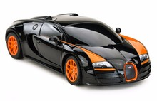 Licensed 1:24 Mini Electric RC Cars 4CH Remote Control Toys Machines On Th Radio Controlled Bugatti Grand Sport Vitesse 47000(China)