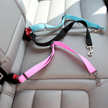 Adjustable Pet Dog Safety Seat Belt Nylon Pets Puppy Seat Lead Leash Dog Harness Vehicle Seatbelt Pet Supplies Travel Clip(China)
