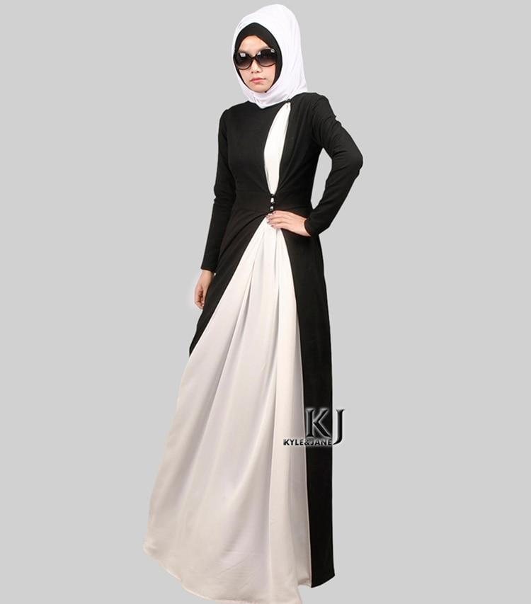 Мусульманский абая Плюс размер исламская абая джилбаба исламская одежда для женщин Био-полировки белый шифон бисер vetement femme turque(China)