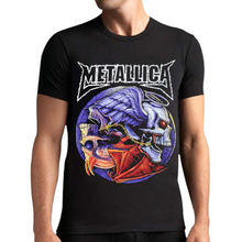 Metallica t shirt men music printed short sleeve casual t shirt US plus size S-3XL(China)