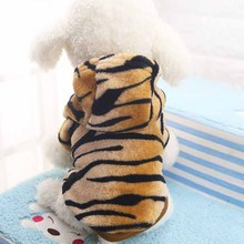 "Cool! ""Tiger"" Pet Costume Fashion Leopard Print Dog Coat Hoodies Fleece Pet Clothes for Dogs Winter Chihuahua Puppy Apparel"