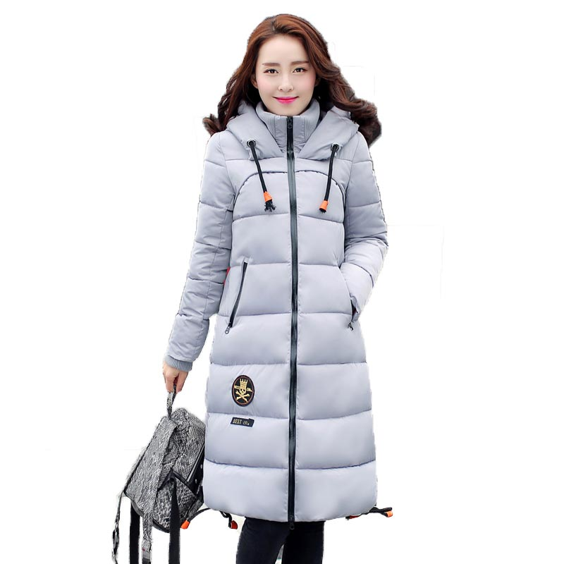 New Plus Size Winter Women thick cotton padded Jacket Slim long cotton Wadded Coat warm Hoodies Parkas CE0326Одежда и ак�е��уары<br><br><br>Aliexpress