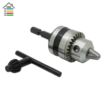 "Electric Drill Chuck Capacity 0.6-6mm Thread 3/8-24UNF with 1/4""Hex Shank for Hammer Power Tools"