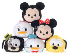 Tsum Tsum Mini Plush Minnie Mickey Daisy Donald Duck Goofy Pluto Dog Collection Set of 6 Cute Smartphone Screen Cleaner Toy Doll