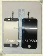 20pcs/lot LCD Screen with Touch Screen Digitizer for iPod Touch 4 4th Gen full set free shipping by DHL UPS
