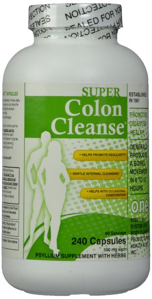 Super Colon Cleanse, 500mg, 240 capsules Free shipping<br>