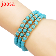 Nature stone Beads Bracelet Joker Tassel Leaves Pulseiras Charm Bracelets & Bangles for Women Jewelry(China)