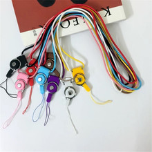 500pcs/lot Rotation Mobile Phone Neck Chain Straps Key Keychain Hang Rope Lariat Lanyard Detachable Camera Straps