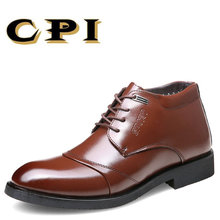 CPI 2017 British Style Leather Casual Lace Up Desert Chukka Ankle Boots Mens Formal Dress Oxford Winter Cotton Shoes PP-123(China)