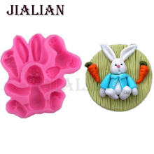Rabbit animal carrot silicone soap molds cake decorating tools mold cake pop recipe cake baking cooking T0781(China)