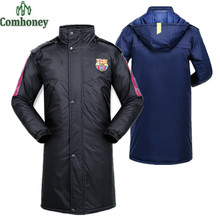 Family Matching Outfits Football Team Outerwear Thick Sports Coat Hooded Down Jacket Coat For Teenager Children's Wear Comhoney