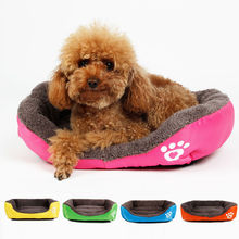 New Pet Bed Cute Soft Puppy House Cat Kennel Hot Fashion Dog Bed Pink Dod Warm sofa(China)