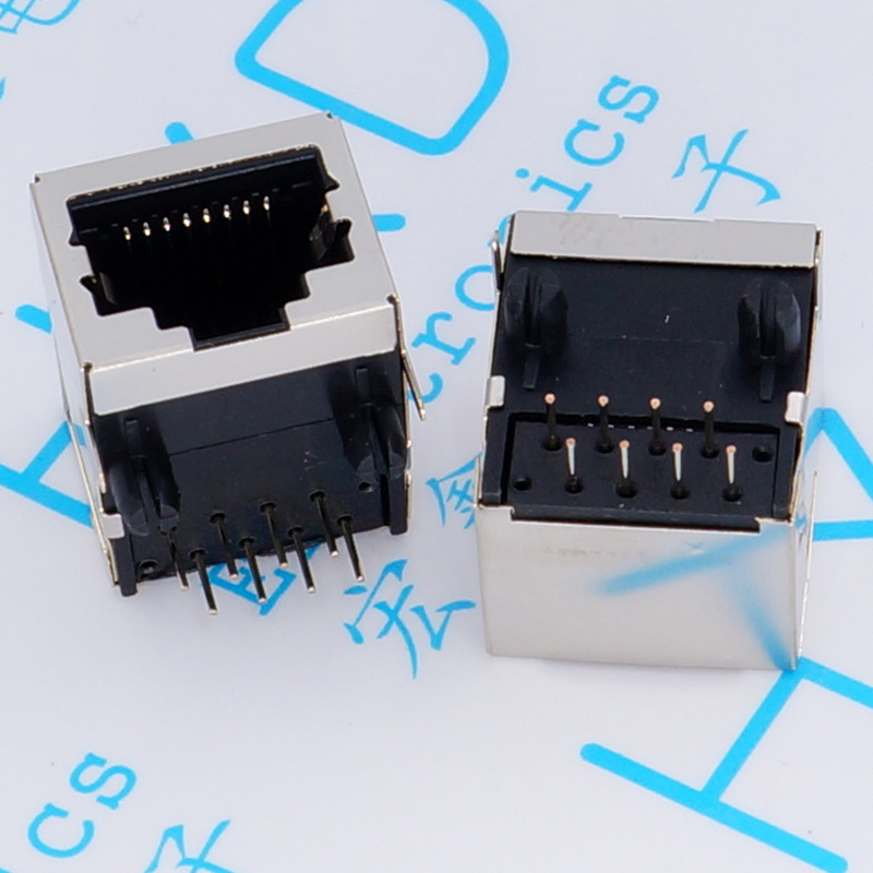 58-8 c cable RJ45 socket 18 mm socket network interface 18.3 mm 90 degrees horizontal bending foot<br>
