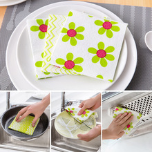 Kitchen clean dish cloth rag nonstick oil 3 loaded lint-free detergent washing towels