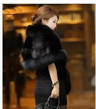 New Womens Fashion Man-Made Shawl Casual Sleeveless Cloack Jackets Female Winter And Autumn Faux Mink Fur Cloack Capes Coats C23