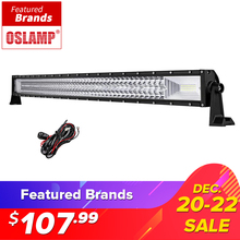 Oslamp 594W 42inch 3-row Curved LED Light Bar Offroad Combo Beam Led Work Light Lamp 12v 24v Truck SUV ATV 4WD 4x4 Led Bar Light(China)