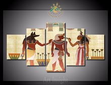5 Pieces/set The Egyptian Pictures Wall Art for Home Decoration Picture Paint on Canvas Prints Painting for Living Room