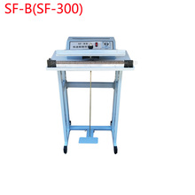 1PC Pedal impulse sealer SF-B(SF-300 )packing machine with shelf(China)