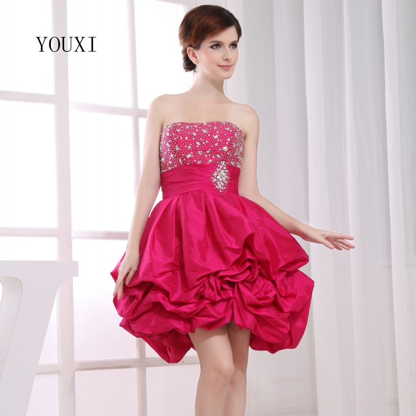 Sexy Strapless Short Prom Dresses 2019 Hot A-Line Cocktail Party Dress For Women PD120
