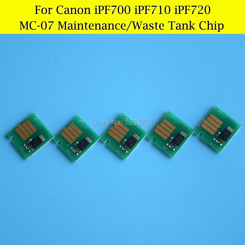 1 Lot MC-07 Waste Ink Tank Chips For Canon iPF710 iPF720 iPF700 Maintenance Tank<br><br>Aliexpress