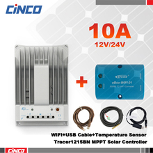 Tracer1215BN 10A 12V/24 EPEVER solar controller & WIFI and USB communication cable & temperature sensor RTS300R47K3.81AV1.1(China)
