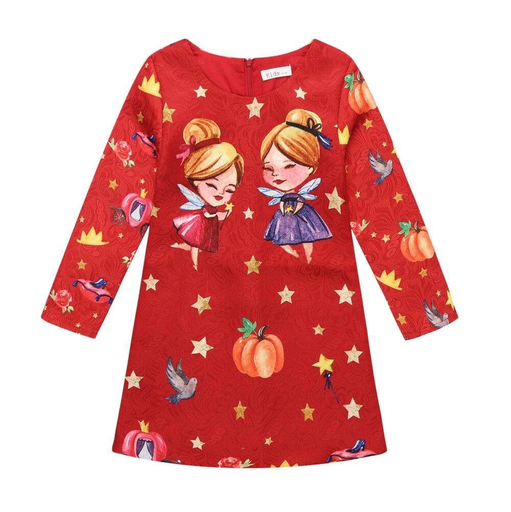 2017 autumn Girls Dress  Kids Clothes Girls Children Clothing Cartoon Dress Princess Holiday Party Wedding Toddler Autumn<br><br>Aliexpress