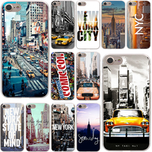 New York City Times Square Taxi Hard Case Transparent for iPhone 7 7 Plus 6 6s Plus 5 5S SE 5C 4 4S