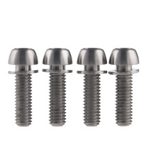 Titanium Alloy Bolt Screw M6 X 20mm Ball Tapered Conical Head With Washer For Bicycle Brake Brakes(China)