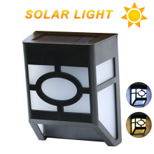 2017 waterproof solar wall lamps ABS path LED Solar Light Outdoor Garden wall lightings Yard Path Fence Lamp for home corridor