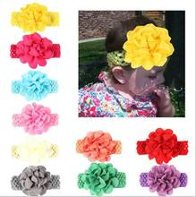 2016 New Children girls headbands Baby cute Flower headwraps Girls hair accessories Kids hair bands