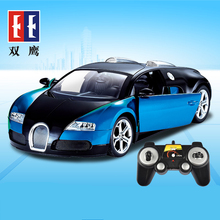 DOUBLE E Bugatti Veyron car remote control toy car charging cars authorized a key to open the door high-speed car drift(China)
