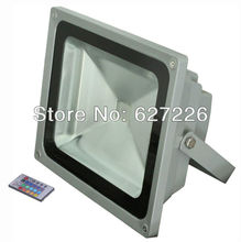 RGB led floodlight 48w rgb led flood light lamp Water-proof IP 68 led streep lamp 24key IR controller(China)
