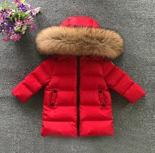 New 2017 Thickened Girls Winter Jackets 2-6T Children Outerwear Winter Coats duck down Coat for Boys parka 4 colour snow wear(China)