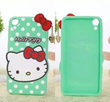 For HTC desire 820 case Polka Dot Hello Kitty Silicone Cell Phone Back Skin cover case for HTC 820 KT cover