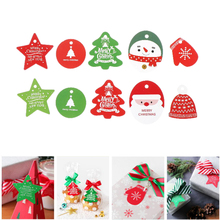 50PCS Paper Tags Christmas Tags Kraft Star Round Paper Card Tag Labels DIY Scrapbooking Crafts Christmas/Wedding Party Favors