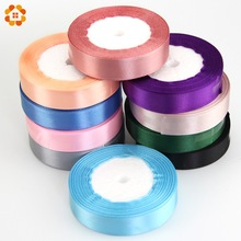 22M/Lot Pretty Silk Satin Ribbon Width 20MM Wedding Party Decoration Invitation Card Gift Wrapping Scrapbooking Supplies Riband