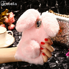 Buy AKABEILA Silicon Case Doogee X10 Cases Rabbit Hair Bling Diamond Doogee X10 Covers Soft TPU Cute Anti-knock Cover for $5.80 in AliExpress store