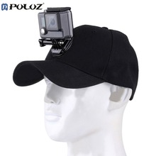PULUZ Sports Camera Hat For Gopro Accessories Adjustable Cap With Screws And J Stent Base For GoPro HERO5 HERO4 Session