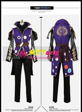 Game Anime Sengoku Basara3: Utage Samurai Warriors Ishida Mitsunari Party Fashion Suit Uniform Cosplay Costume Any Size NEW