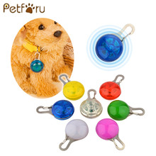 Petforu pet Dog LED glowing pendant necklace Safety puppy Cat Night Light Flashing Collar Pet Luminous Bright Glowing in Dark