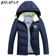 2017 Winter Men Jacket Soft lambswool Hood Collar Jacket Minus 30.Full Warm Fur Men Down Coat Plus Size Casacos Masculino YYJ6